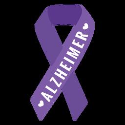 Etiqueta engomada de la insignia del corazón de la cinta de Alzheimer