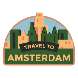 Adesivo de Amsterdã viajando para Amsterdã