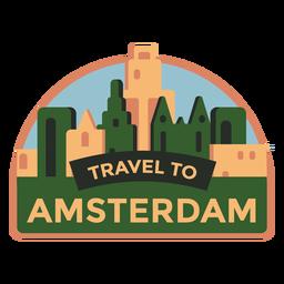 Viaje de Amsterdam a Amsterdam pegatina