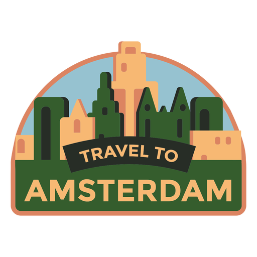Amsterdam travel to amsterdam sticker