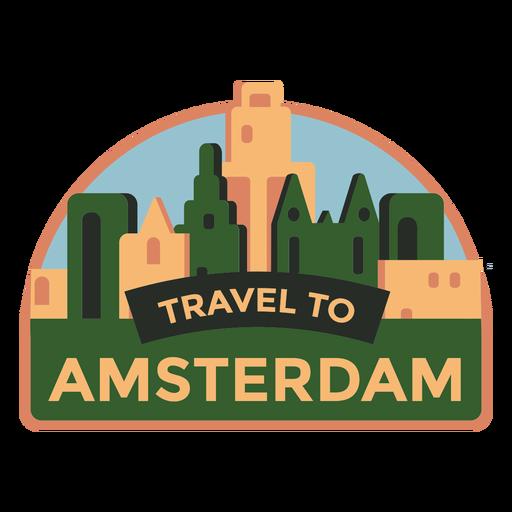 Viaje de Amsterdam a Amsterdam pegatina Transparent PNG