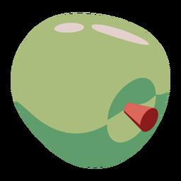 Manzana verde plana