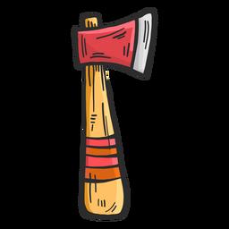 Esboço colorido de machado tomahavk