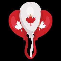 Balloon leaf maple badge sticker