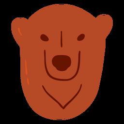 Oso de piel grizzly plana