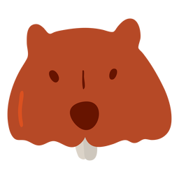 Piel de castor plana