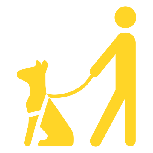 Perro ciego persona bastón bastón silueta detallada Transparent PNG