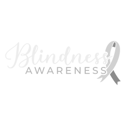 Blindness awareness ribbon badge sticker