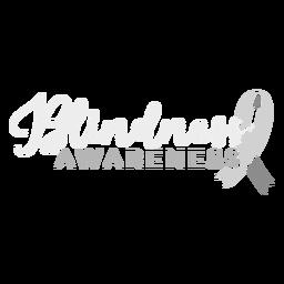 Insignia de cinta de conciencia de ceguera