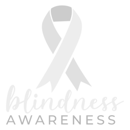 Blindness awareness ribbon sticker badge