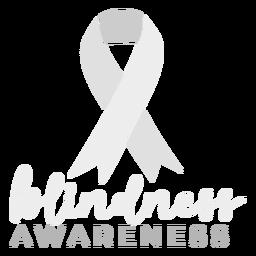Insignia de etiqueta de cinta de conciencia de ceguera