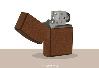 Leather Cover Zippo Lighter Design