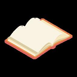 Libro página de manual plana