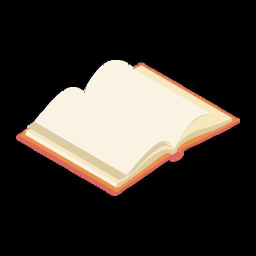 Libro manual página plana Transparent PNG