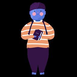 Rapaz livro ruddiness plana