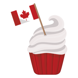 Cake flag leaf maple badge sticker