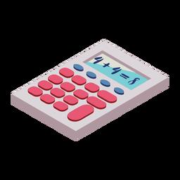 Botón de calculadora cuatro ocho suma plana