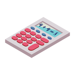 Calculator button four eight addition flat