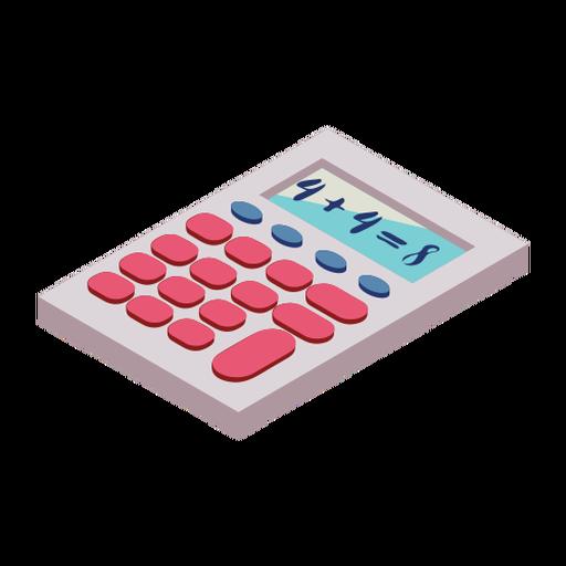 Calculator button four eight addition flat