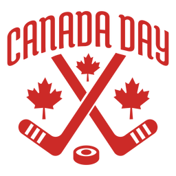 Canada day club puck maple leaf badge sticker