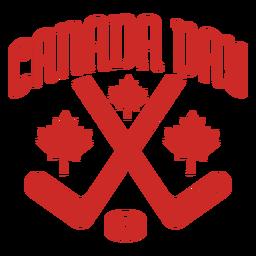 Etiqueta do emblema da folha de bordo do disco do clube de dia de Canadá