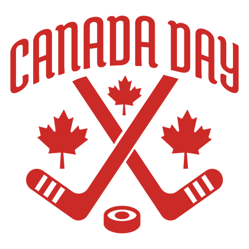 Canada day club puck maple leaf badge sticker Transparent PNG