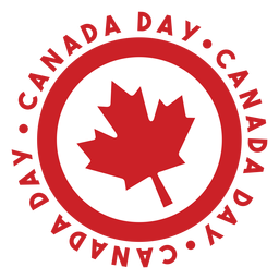 Canada day maple leaf badge sticker