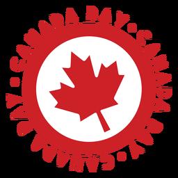 Etiqueta engomada de la insignia de la hoja de arce del día de canadá