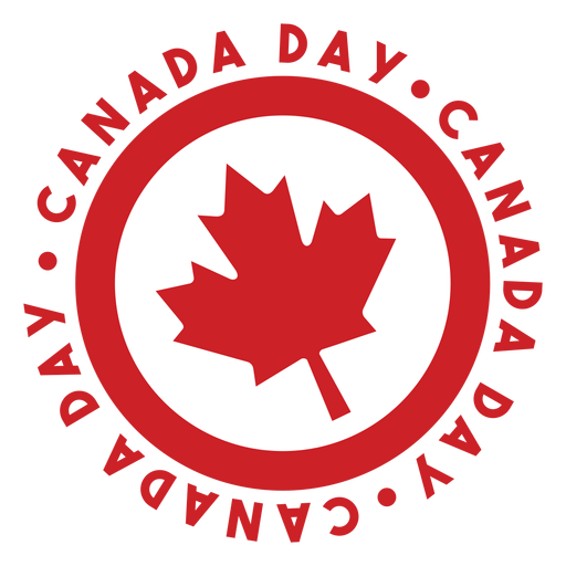 Canada day maple leaf badge sticker Transparent PNG