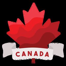 Etiqueta do emblema da folha de bordo da fita do Canadá