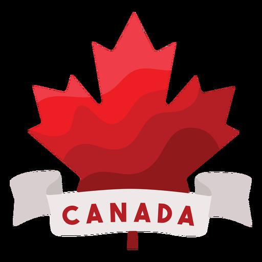 Canada ribbon maple leaf badge sticker Transparent PNG
