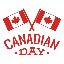 Bandera canadiense del día hoja insignia de arce