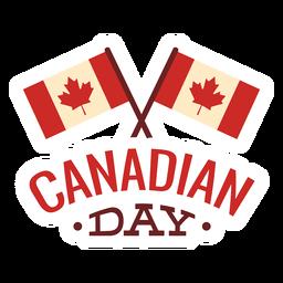 Adesivo de distintivo de folha de bordo de bandeira do dia canadense