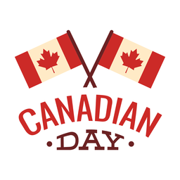 Canadian day flag maple leaf badge sticker