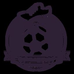 Autocolante de emblema de bota de bola de campeonato