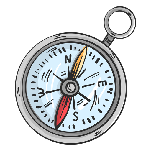 Compass arrow direction colored sketch Transparent PNG