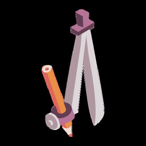 Compasses pencil flat Transparent PNG
