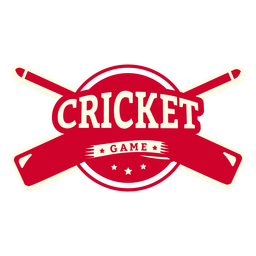 Cricket game bat badge sticker
