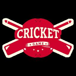 Etiqueta do emblema do bastão do jogo de críquete