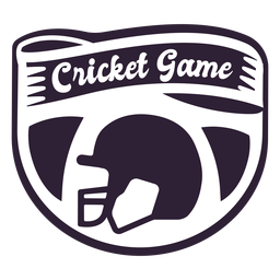 Cricket game helmet badge sticker