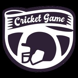 Etiqueta engomada de la insignia del casco del juego de cricket