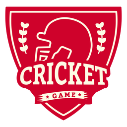 Etiqueta engomada de la insignia de la rama del casco del juego de críquet