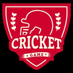Insignia de la rama del casco del juego de Cricket