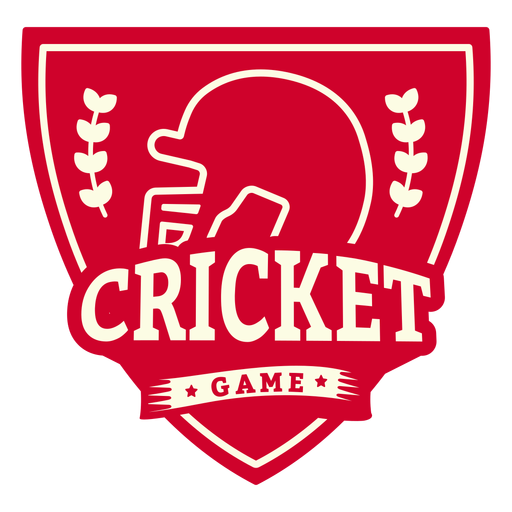Cricket game helmet branch badge sticker