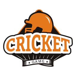 Cricket game helmet star badge sticker