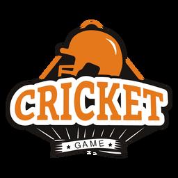 Etiqueta engomada de la insignia de la estrella del casco del juego de cricket