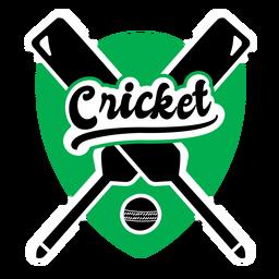 Cricket King Bat Ball Abzeichen Aufkleber