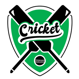Cricket King Bat Ball Badge