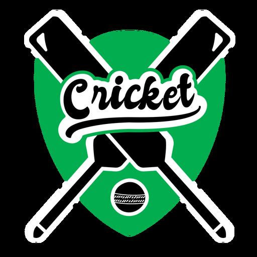 Etiqueta engomada de la insignia de la bola del bate del rey del cricket