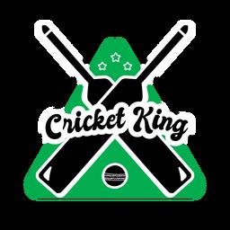 Autocolante com o emblema de estrela da bola com bastão rei de críquete